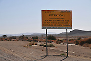 Plant quarantine zone Photographed at Faran in the Arava desert, Israel
