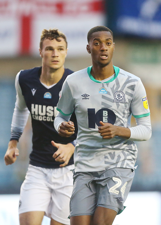 Blackburn Rovers' Tosin Adarabioyo<br /> <br /> Photographer Rob Newell/CameraSport<br /> <br /> The EFL Sky Bet Championship - Millwall v Blackburn Rovers - Tuesday July 14th 2020 - The Den - London<br /> <br /> World Copyright © 2020 CameraSport. All rights reserved. 43 Linden Ave. Countesthorpe. Leicester. England. LE8 5PG - Tel: +44 (0) 116 277 4147 - admin@camerasport.com - www.camerasport.com