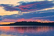 Pakwash Lake at sunset<br />Pakwash Lake Provincial Park<br />Ontario<br />Canada