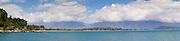 Panoramic view of Golden Bay, near Takaka, New Zealand.