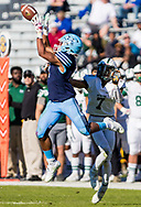 Dorman Cavaliers Dee Rice-Williams (2) intercepts a pass intended for Dutch Fork Silver Foxes wide receiver Jalin Hyatt (7) in the Class AAAAA State Championship Game at Williams-Brice Stadium in Columbia, SC. Dutch Fork wins their 4th straight state championship at Williams Brice Stadium. Photos ©JeffBlakePhoto.com
