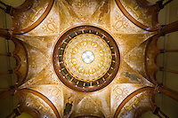 View of dome inside the historic Ponce de Leon Hotel, today Flagler College in St. Augustine, Florida.