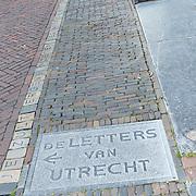 NLD/Utrecht/20170824 -  Koningin Maxima bij viering 650 jaar Bartholomeus Gasthuis, De Letters van Utrecht