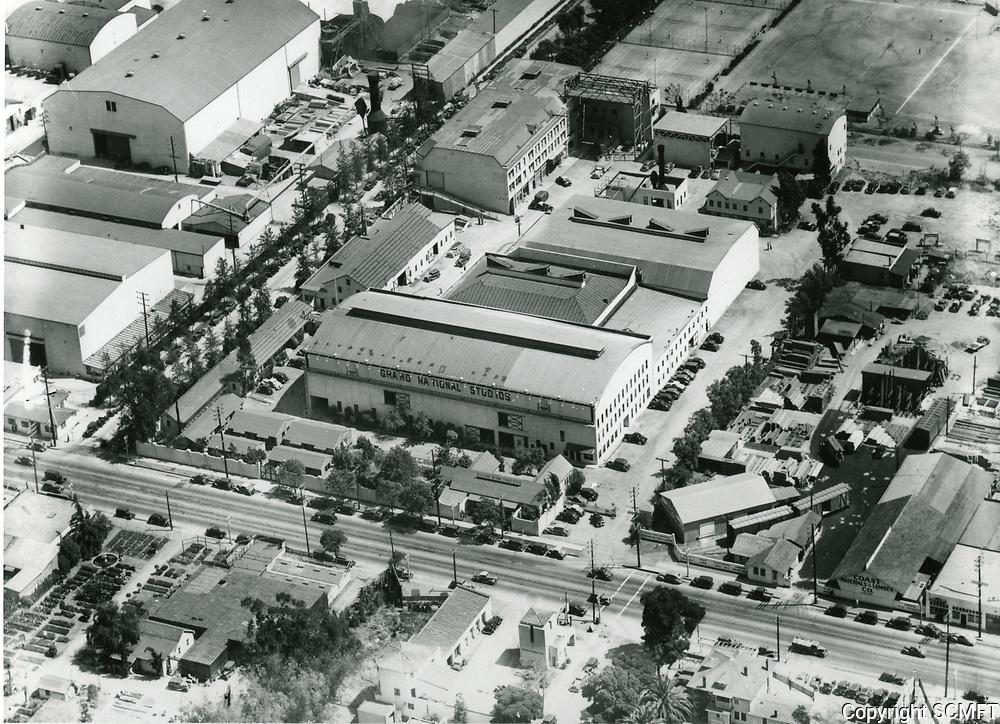 1937 Aerial of Grand National Studios on Santa Monica Blvd.