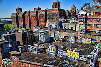 Rooftops of Two Bridges Neighborhood, Lower Manhattan
