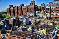 Rooftops of Two Bridges Neighborhood, Lower Manhattan
