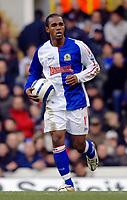 Photo: Daniel Hambury.<br />Tottenham Hotspur v Blackburn Rovers. The Barclays Premiership. 05/03/2006.<br />Blackburn's Florent Sinama Pongolle celebrates his goal.
