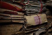 Mounds of arrest files and other documents in deplorable state are still found in National Police Historical Archives. On July 5, 2005, the historical archives of the now dissolved National Police were found in an abandoned arms depot in the outskirts of Guatemala City. The discovery of these millions of documents, which were allegedly lost after the 1996 Peace Accords, provide important evidence in the search for the thousands of people who were detained and subsequently disappeared by State security forces during the internal armed conflict (1960-1996). Guatemala City, Guatemala. March 20, 2009.