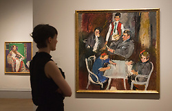 "© Licensed to London News Pictures. 08/10/2013. London, England. Pictured: Portrait of the Schaukal Family by Anton Kolig, 1911. This autumn, the National Gallery presents the UK's first major exhibition devoted to Viennese portraiture - ""Facing the Modern: The Portrait in Vienna 1900"". From 9 October 2013 to 12 January 2014 portraits by artists such as Gustav Klimt, Oskar Kokoschka, Egon Schiele and Richard Gerstl will be on display. Photo credit: Bettina Strenske/LNP"