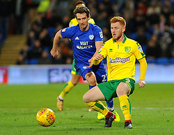 Craig Bryson of Cardiff City applies pressure on Harrison Reed of Norwich City  -Mandatory by-line: Nizaam Jones/JMP - 01/12/2017 -  FOOTBALL - Cardiff City Stadium- Cardiff, Wales-  Cardiff City v Norwich City- Sky Bet Championship