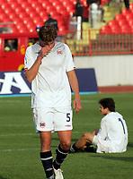 15.11.2009 Novi Sad(Serbia)<br /> Serbia-Norway football Under 21<br /> Norge - Serbia U21<br /> <br /> Uefa Euro qualify<br /> Thomas Rogne Norway after losed match. Serbia won Norway 3:2.