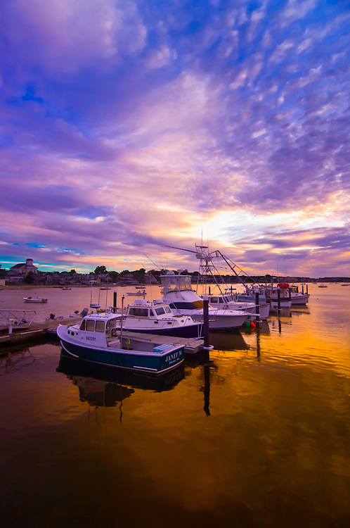 Sunrise at the harbor at Provincetown, Cape Cod, Massachusetts, USA