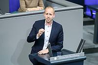 04 NOV 2020, BERLIN/GERMANY:<br /> Dennis Rohde, MdB, SPD, waehrend einer Debatte zum Bericht des Verteidigungsausschusses als 1. Untersuchungsausschuss, Plenum, Reichstagsgebaeude, Deutscher Bundestag<br /> IMAGE: 20201104-01-075<br /> KEYWORDS: Rede, speech