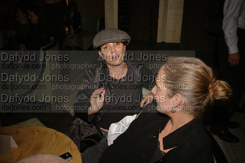 SADIE FROST AND ROSEMARY FERGUSON, Luella Bartley Dinner, Nobu, Berkeley St. 16 May 2006. ONE TIME USE ONLY - DO NOT ARCHIVE  © Copyright Photograph by Dafydd Jones 66 Stockwell Park Rd. London SW9 0DA Tel 020 7733 0108 www.dafjones.com