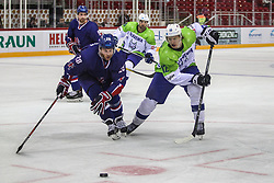 Jan Drozg of Slovenia during Ice Hockey match between National Teams of Great Britain and Slovenia in Round #1 of 2018 IIHF Ice Hockey World Championship Division I Group A, on April 22, 2018 in Budapest, Hungary. Photo by David Balogh / Sportida