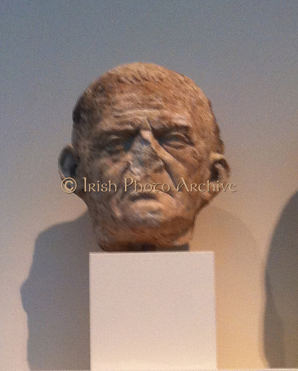 Marble head (portrait), Roman circa 50 BC