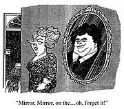 """Mirror, Mirror, on the...oh, forget it!"""