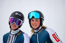 Rebeka Oblak (SLO) and Nika Murovec (SLO) during giant slalom race at FIS European Cup Krvavec 2021, February 2, 2021 in Krvavec, Cerklje na Gorenjskem, Slovenia. Photo by Matic Klansek Velej / Sportida