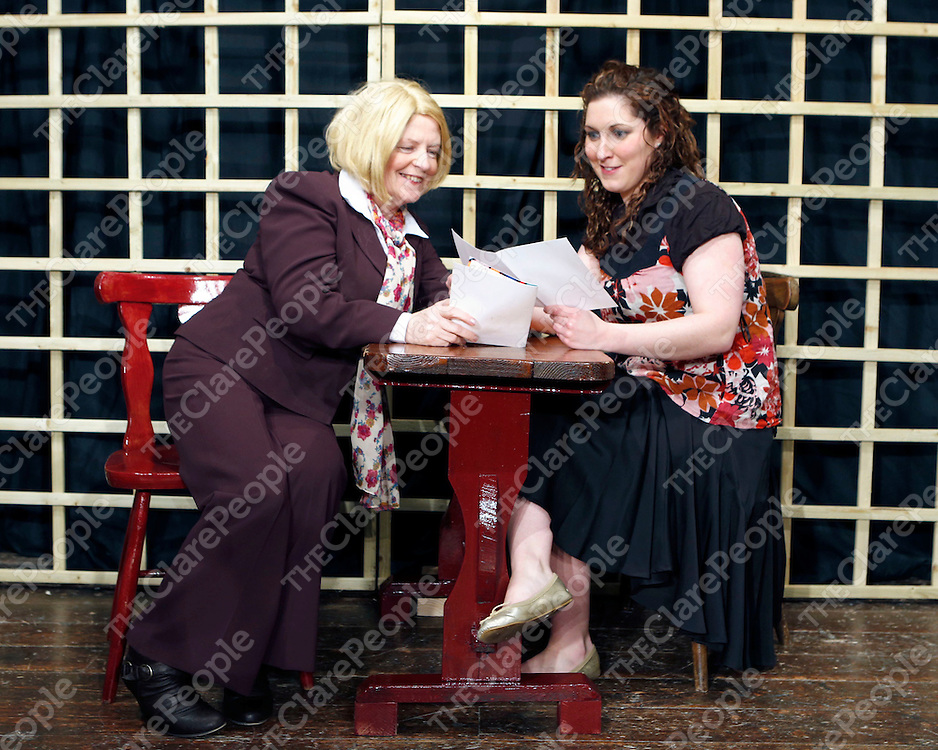 17/02/2013<br /> Patricia Rynne and Fiona O'Neill pictured at Dress Rehersal for Fortunes and Misfortunes at Mullagh Hall.<br /> Picture: Don Moloney / Press 22