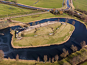 Nederland, Noord-Holland, Gemeente De Ronde Venen, 20-02-2012; Fort bij Waver-Amstel (of Fort de Nes of Fort Nessersluis). .Fortress Fort bij Waver-Amstel, part of the Defense line of Amsterdam.    .luchtfoto (toeslag), aerial photo (additional fee required);.copyright foto/photo Siebe Swart.