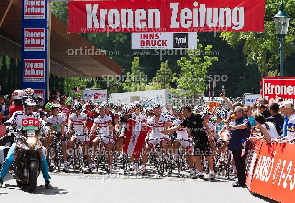 01.07.2012, Innsbruck, AUT, 64. Oesterreich Rundfahrt, 1. Etappe, EZF Innsbruck, im Bild der Start during the 64rd Tour of Austria, Stage 1, Individual time trial in Innsbruck, Austria on 2012/07/01