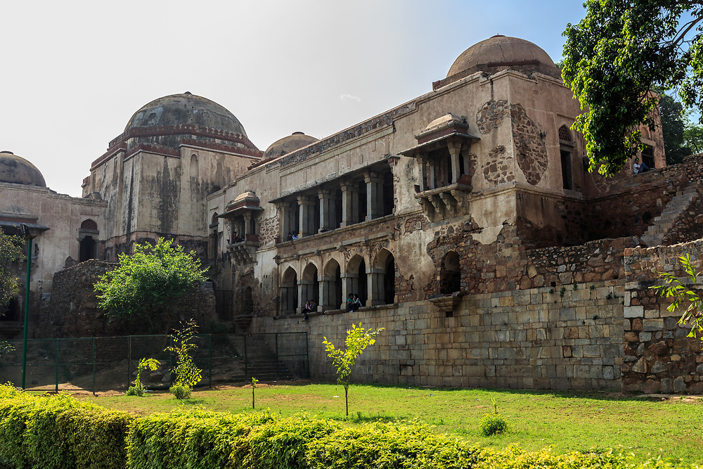 The Madrasa  (Islamic School of Learning – a theological college) in Hauz Khas or Royal Tank Complex in New Delhi, India. Established in 1352, the Madrasa was one of the leading institutions of Islamic learning in the Delhi Sultanate. It was also considered the largest and best equipped Islamic seminary anywhere in the world.