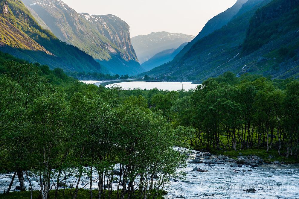 Norway, Gjesdal. Gautøynvatnet lake.