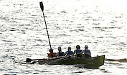 San Remo, ITALY,  Sat.  W4X+, Lausanne Sports Aviron Gold medal winnners. [Cox uses a blade to steer the boat after the rudder breaks], at the FISA Coastal World Championships. Saturday 18/10/2008.[Photo, Peter Spurrier/Intersport-images] Coastal Rowing Course: San Remo Beach, San Remo, ITALY
