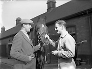 03/01/1957<br /> 01/03/1957<br /> 03 January 1957<br /> <br /> Army Equitation School Feature - New Civilian Trainer, Seamus Hayes