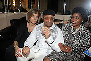 l to r: Jill Newman, Cecil Taylor and Vanessa Cobb at Cecil Taylor Celebrating The 80th Year Produced by Jill Newman Productions held at The Blue Note in New York City on May 28, 2009
