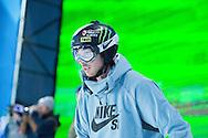 Kevin Rolland during Ski Superpipe Practice during 2015 X Games Aspen at Buttermilk Mountain in Aspen, CO. ©Brett Wilhelm/ESPN