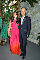 SHIRA SUVEYKE (Co President/ Chief Merchant at THE OUTNET.COM) and MATTHEW WILLIAMSON at the launch of Matthew Williamson's 'Sea to Shore' range for The Outnet.com held at the Matthew Williamson's showroom, Studio 10-11, 135 Salusbury Road, London NW6 on 5th May 2016