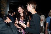 CAITLIN MAVROLEON; MELODY CROWDY, Book party for Janine di Giovanni's Ghosts by Daylight. Blake's Hotel. South Kensington. London. 12 July 2011. <br /> <br />  , -DO NOT ARCHIVE-© Copyright Photograph by Dafydd Jones. 248 Clapham Rd. London SW9 0PZ. Tel 0207 820 0771. www.dafjones.com.