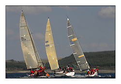 Bell Lawrie Scottish Series 2008. Fine North Easterly winds brought perfect racing conditions in this years event...Class 1 top mark with IRL3939 Antix Elie ( Silk Glove ), Playing FTSE GBR603R,  IRL 4208 Wow