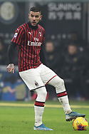 Theo Hernandez of AC Milan during the Serie A match at Giuseppe Meazza, Milan. Picture date: 9th February 2020. Picture credit should read: Jonathan Moscrop/Sportimage