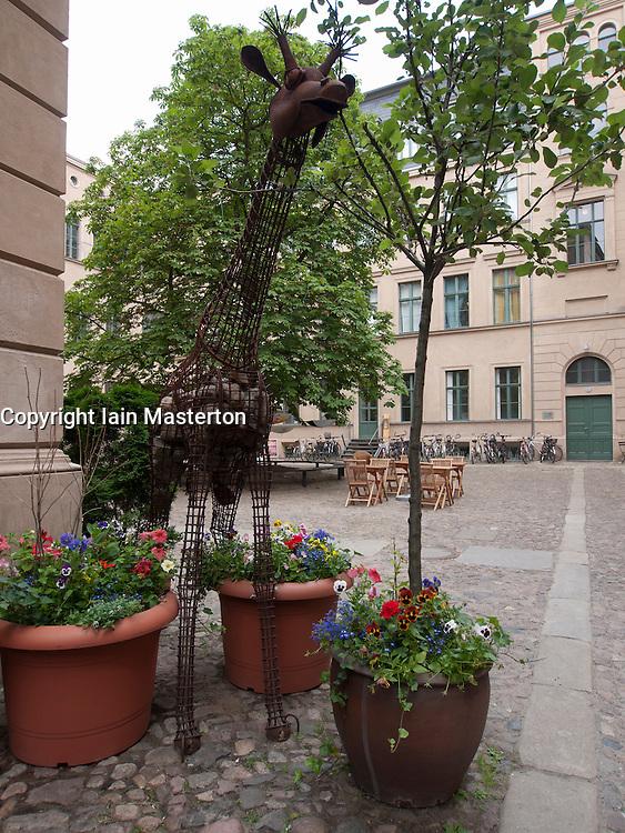 View of Kunsthof a courtyard full of art galleries off Oranienburger Strasse in Berlin Germany