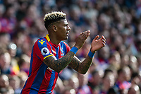 LONDON, ENGLAND - APRIL 14: Patrick van Aanholt (3) of Crystal Palace  during the Premier League match between Crystal Palace and Brighton and Hove Albion at Selhurst Park on April 14, 2018 in London, England. (Photo by MB Media/Getty Images)