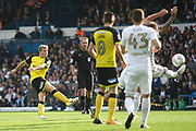 Burton Albion's Jamie Allen (4) shoots during the EFL Sky Bet Championship match between Leeds United and Burton Albion at Elland Road, Leeds, England on 9 September 2017. Photo by John Potts.