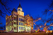 Denton Courthouse at Night