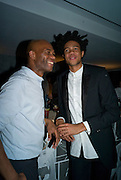 JOE CASELY-HAYFORD; CHARLIE CASELY-HAYFORD, Celebrate the second guest editors issue. Pre-launch of  Paramount at Centrepoint.London 16 September 2008. *** Local Caption *** -DO NOT ARCHIVE-© Copyright Photograph by Dafydd Jones. 248 Clapham Rd. London SW9 0PZ. Tel 0207 820 0771. www.dafjones.com.