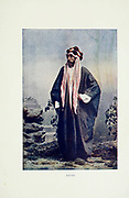 Arab man from Typical Pictures of Indian Natives Being reproduction from Specially prepared hand-colored photographs. By F. M. Coleman (Times of India) Seventh Edition Bombay 1902