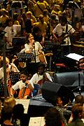 Het eindconcert van Kinderen Maken Muziek in de Heineken Music Hall. De ruim 3000 kinderen die de afgelopen tijd overal in het land muziekgroepen vormden, traden gezamenlijk op. ///// The final concert of Children Making Music in the Heineken Music Hall. The more than 3000 children who recently formed bands across the country, acted together.<br /> <br /> Op de foto / On the Photo: