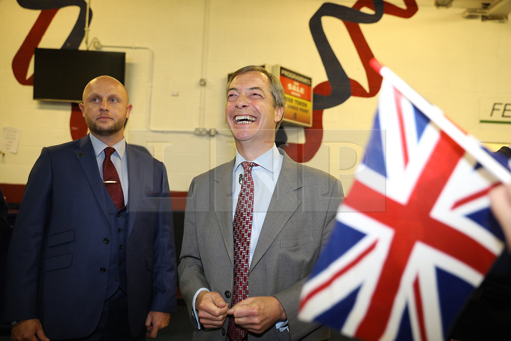 "© Licensed to London News Pictures . 22/09/2018. Bolton, UK. DAVID DAVIS . Pro Brexit campaign group Leave Means Leave host a "" Save Brexit "" and "" Chuck Chequers "" rally at the University of Bolton Stadium , attended by leave-supporting politicians from a cross section of parties , including Conservative David Davis , former UKIP leader Nigel Farage and Labour's Kate Hoey . Photo credit: Joel Goodman/LNP"