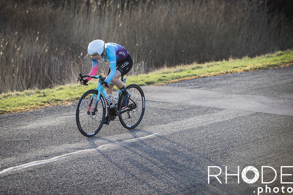 Marjolein van't Geloof (NED/Drops Le Col)<br /> <br /> Healthy Ageing Tour (NED) 2021<br /> UCI Women Elite 2.1<br /> Stage 2 : Individual Time Trial (ITT) – Lauwersoog – Het Hoogeland 14.4km<br /> <br /> ©RhodePhoto
