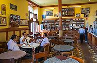 LIMA, PERU - CIRCA APRIL 2014: View of  typical bar in the Lima Historic Centre in Peru
