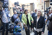 Day of Verdict In The Trial Of Oscar Pistorius<br /> <br /> Barry and June Steenkamp, parents of Reeva Steenkamp, arrive in North Gauteng High Court on September 11, 2014 in Pretoria, South Africa. <br /> <br /> Judge Thokozile Masipa will deliver judgment on Oscar Pistorius for the murder of his girlfriend, model Reeva Steenkamp<br /> ©Exclusivepix
