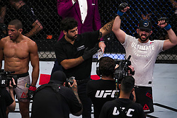 October 28, 2017 - Sao Paulo, Sao Paulo, Brazil - Oct, 2017 - Sao Paulo, Sao Paulo, Brazil - Fight between HACRAN DIAS and JARED GORDON (Flash) during UFC Fight Night, at the Ibirapuera Gymnasium in Sao Paulo, this Saturday (28). GORDON (in black) won. (Credit Image: © Marcelo Chello/CJPress via ZUMA Wire)