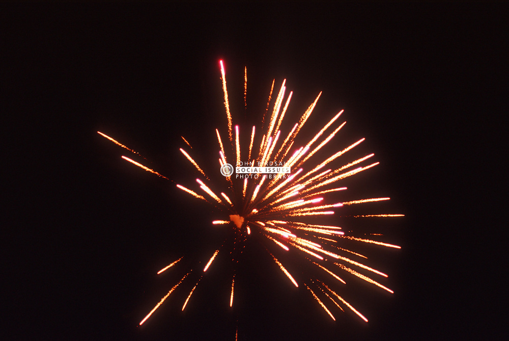 Fireworks exploding in the sky,