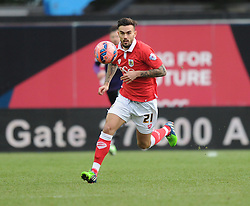 Bristol City's Marlon Pack in action during the FA Cup fourth round match between Bristol City and West Ham United at Ashton Gate on 25 January 2015 in Bristol, England - Photo mandatory by-line: Paul Knight/JMP - Mobile: 07966 386802 - 25/01/2015 - SPORT - Football - Bristol - Ashton Gate - Bristol City v West Ham United - FA Cup fourth round
