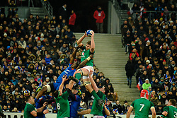 February 3, 2018 - Saint Denis, Seine Saint Denis, France - The Fullback of Irish team ROBBIE HENSHAW in action during the NatWest Six Nations Rugby tournament between France and Ireland at the Stade de France - St Denis - France..Ireland Won 15-13 (Credit Image: © Pierre Stevenin via ZUMA Wire)